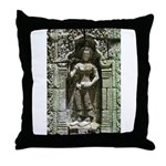 Te Prohm Temple Wall Carvings Throw Pillow