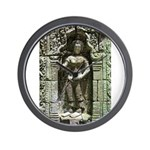 Te Prohm Temple Wall Carvings Wall Clock
