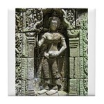 Te Prohm Temple Wall Carvings Tile Coaster