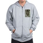 Te Prohm Temple Wall Carvings Zip Hoodie