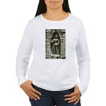 Te Prohm Temple Wall Carvings Women's Long Sleeve