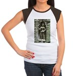 Te Prohm Temple Wall Carvings Women's Cap Sleeve T