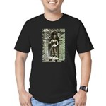 Te Prohm Temple Wall Carvings Men's Fitted T-Shirt