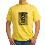 Te Prohm Temple Wall Carvings Yellow T-Shirt
