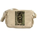 Te Prohm Temple Wall Carvings Messenger Bag