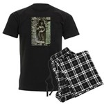 Te Prohm Temple Wall Carvings Men's Dark Pajamas