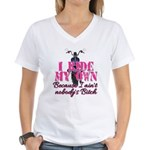 Nobody's Bitch Women's V-Neck T-Shirt