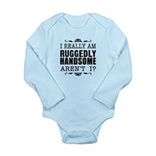 Kiki's Ruggedly Handsome Long Sleeve Infant Bodysu