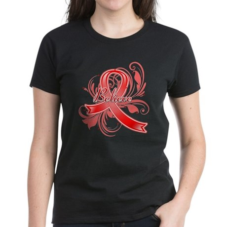 Blood Cancer Believe Women's Dark T-Shirt