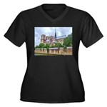 Notre-Dame Cathedral 2 Women's Plus Size V-Neck Da