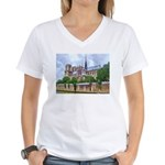 Notre-Dame Cathedral 2 Women's V-Neck T-Shirt