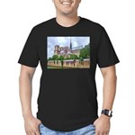 Notre-Dame Cathedral 2 Men's Fitted T-Shirt (dark)