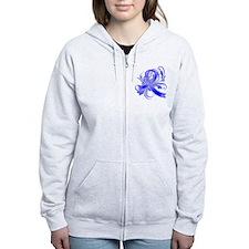 Colon Cancer Believe Zip Hoodie