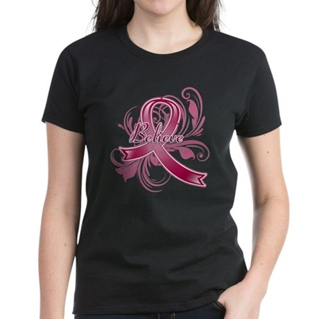 Multiple Myeloma Believe Women's Dark T-Shirt
