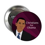 Christians for Obama political button