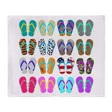 Flip Flop Chart Throw Blanket