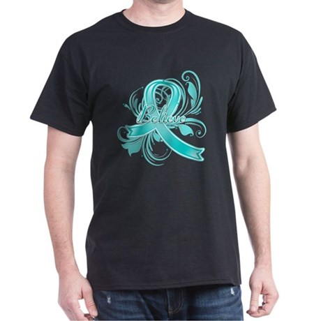 Ovarian Cancer Believe Dark T-Shirt
