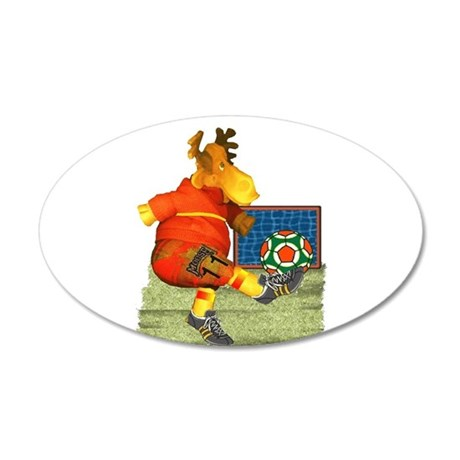 Soccer Moose 22x14 Oval Wall Peel