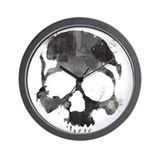Watercolor Skull Wall Clock