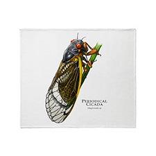 Cecropia Moth Caterpillar Throw Blanket