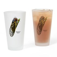 Cecropia Moth Caterpillar Drinking Glass