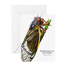 Cecropia Moth Caterpillar Greeting Card