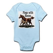 Plays with Horses Infant Creeper