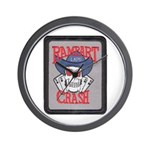 Rampart Crash Wall Clock