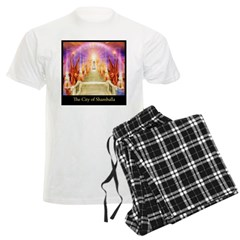 The City of Shamballa Buddha Men's Light Pajamas