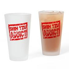 Shih Tzu ADDICT Drinking Glass