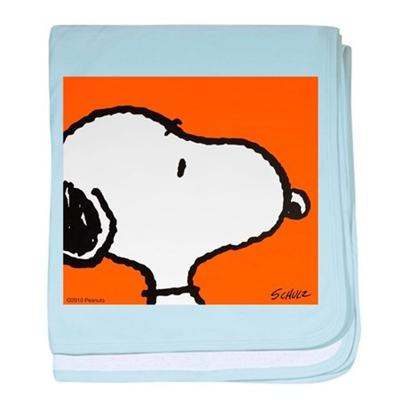 Fresh Orange Snoopy baby blanket