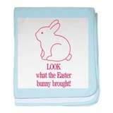 Look Easter Bunny Brought Pin baby blanket