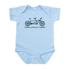 Tandem Cyclists Do It Together Infant Bodysuit