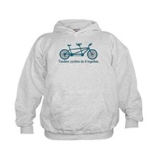 Tandem Cyclists Do It Together Hoodie