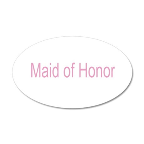 Maid of Honor Gifts 38.5 x 24.5 Oval Wall Peel