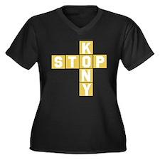 Kony Women's Plus Size V-Neck Dark T-Shirt