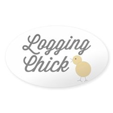 Logging Chick Decal