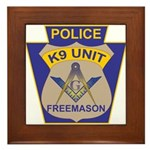 K9 Corps Masons Framed Tile
