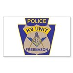 K9 Corps Masons Sticker (Rectangle)