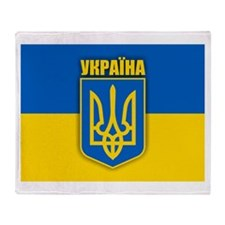 """Ukraine Pride"" Throw Blanket"