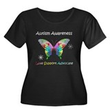 Autism Awareness Butterfly Women's Plus Size Scoop