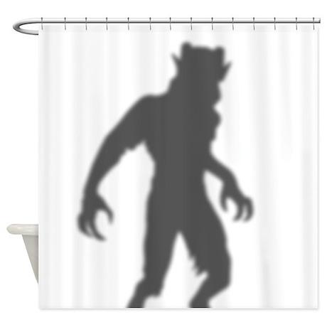 Menacing Demon In The Shower Curtain
