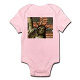 Patriotic Lady Liberty Infant Creeper