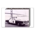 San Francisco Police Car Sticker (Rectangle 10 pk)