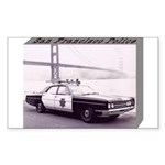 San Francisco Police Car Sticker (Rectangle)