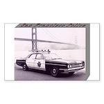 San Francisco Police Car Sticker (Rectangle)