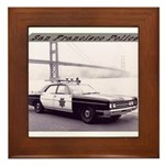 San Francisco Police Car Framed Tile