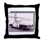 San Francisco Police Car Throw Pillow