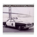 San Francisco Police Car Tile Coaster