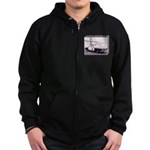 San Francisco Police Car Zip Hoodie (dark)
